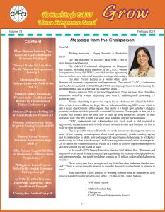 2019 0311 Women newsletter 900 x 1400 xx